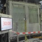 Geslaagde test brandwerend glas met ventilatierooster