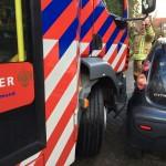Foutgeparkeerde auto's maakt brand blussen moeilijk