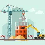 Orderportefeuille bouw drie tiende maand gestegen
