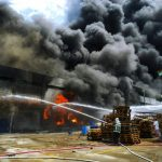Grote brand aardappelloods in Uithuizermeeden, Groningen